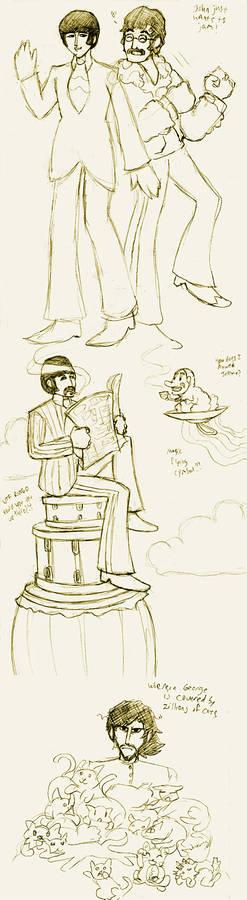 YS Beatles scribbles