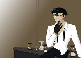 Roger on his desk by mistress-samwise