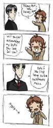 Holmes +Watson Nyoro-n by mistress-samwise