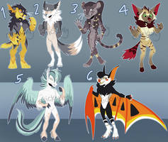 Mixed Anthro Adopts - AUCTION - 2/6 OPEN