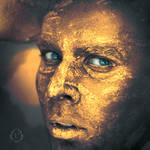 Golden self-portrait by laczi