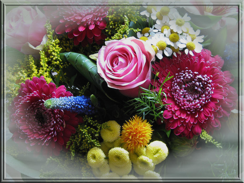 Birthday Flowers by Brigitte-Fredensborg