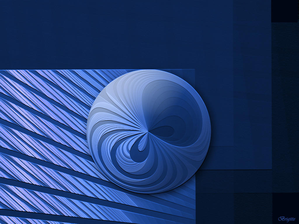 Blue Wallpaper by Brigitte-Fredensborg