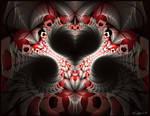 Mandelbrot Heart by Brigitte-Fredensborg