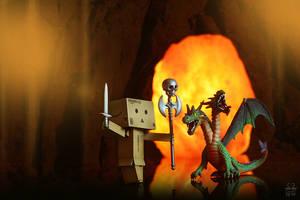 Woody, the dragonslayer by Brigitte-Fredensborg