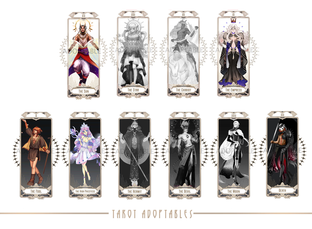 [open] Adopt Auction #Tarot Adoptables by asmxhf