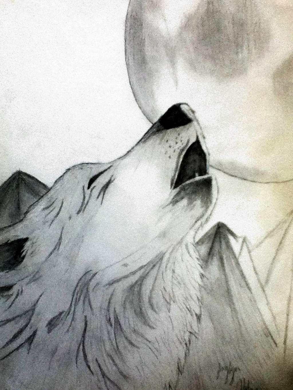 Howling At The Moon By Lonewolf23pro Howling At The Moon By Lonewolf23pro Wolf  Drawing Dr Odd