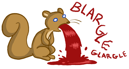 a_squirrel_vomiting_a_gallon_of_blood_by