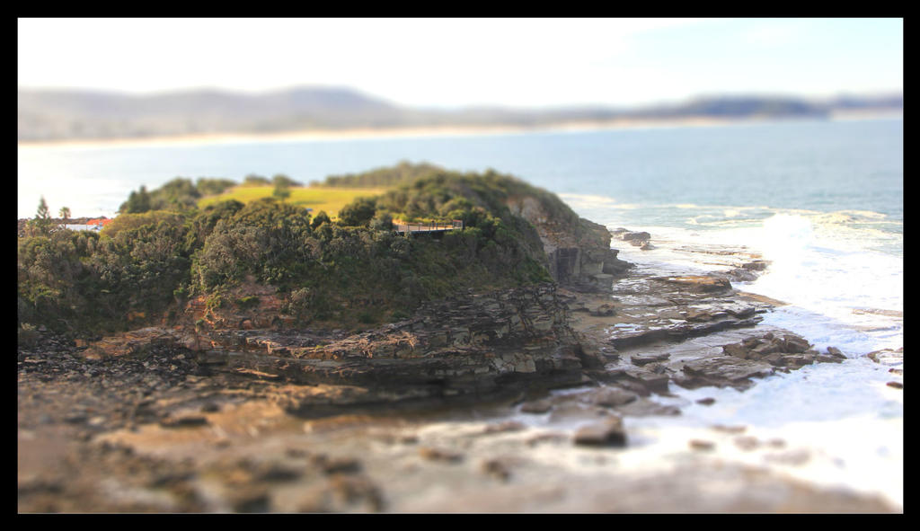 Outcrop Tilt Shift by FlamingAvocado