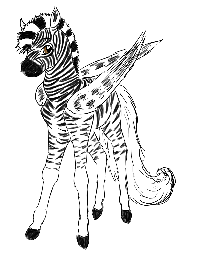 Cute baby zebra drawings for Zebra coloring pages