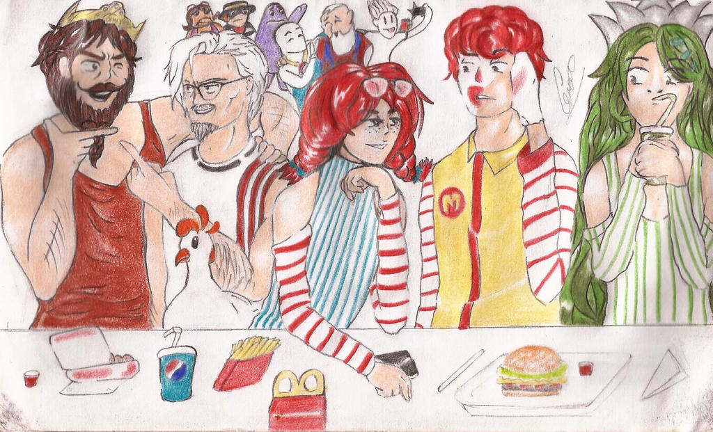 Fast Foods friends by geceron