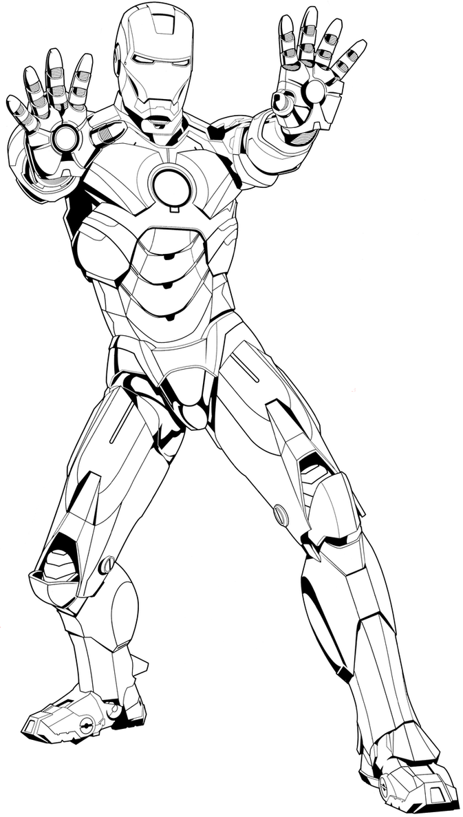 mark 8 coloring pages | IronMan Mark 4 Coloring Pad by Syrus54 on DeviantArt