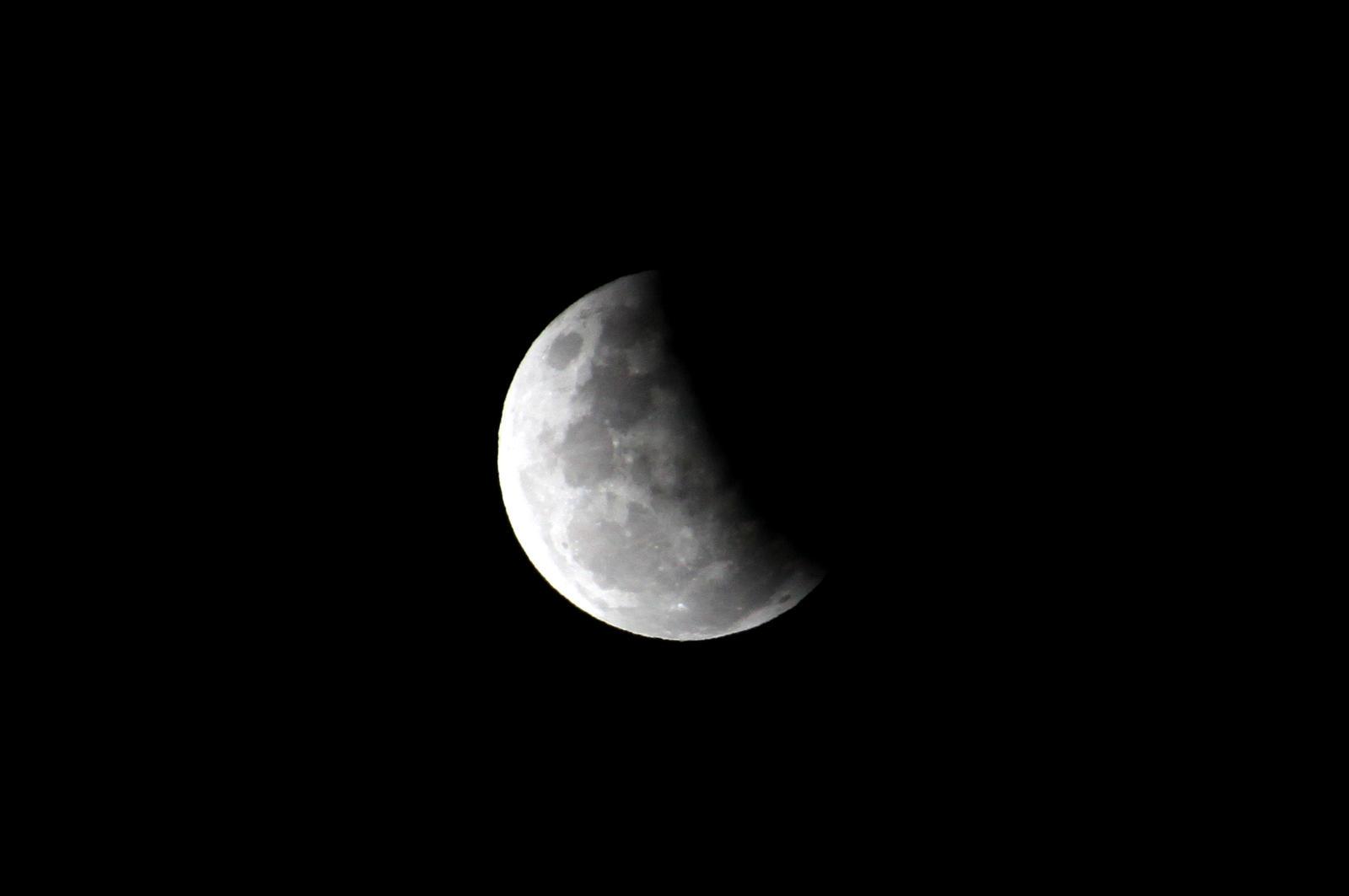 Partial Lunar Eclipse 4 by TarJakArt