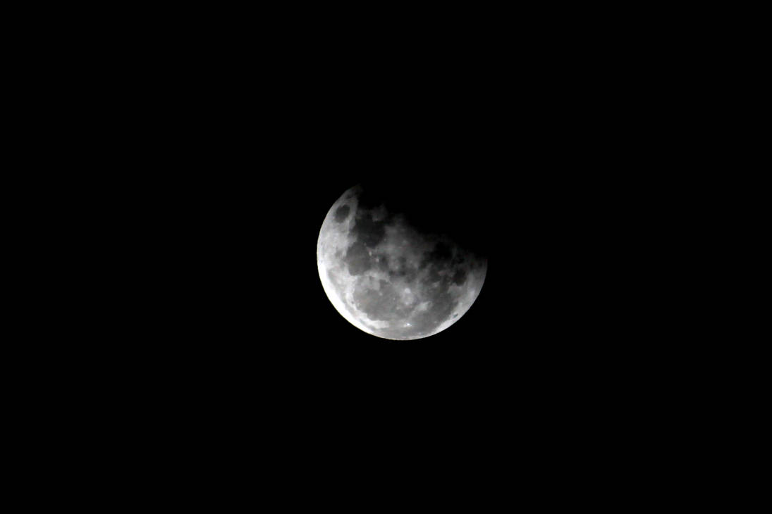 Partial Lunar Eclipse 8 by TarJakArt