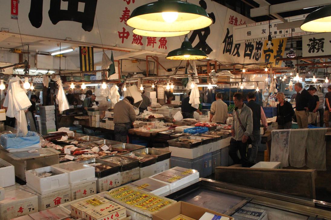Tsujiki Fish Markets by TarJakArt