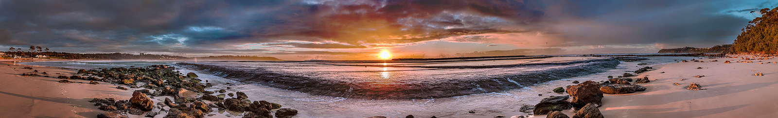 Mollymook Dawn Panorama by TarJakArt