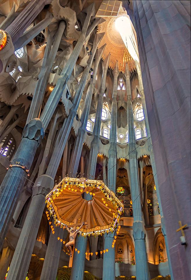 Christ's Parasol - Sagrada Familia, Barcelona by TarJakArt