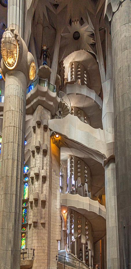 Sagrada Famila Spiral Staircase by TarJakArt