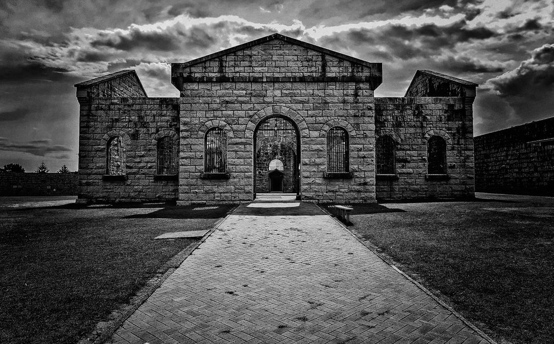 Trial Bay Gaol BW by TarJakArt