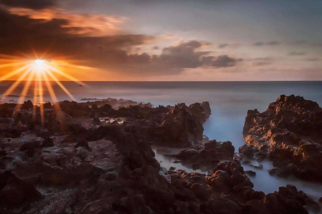 Easter Island Sunset by TarJakArt