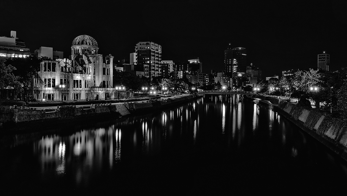 Hiroshima Nightscape BW by TarJakArt