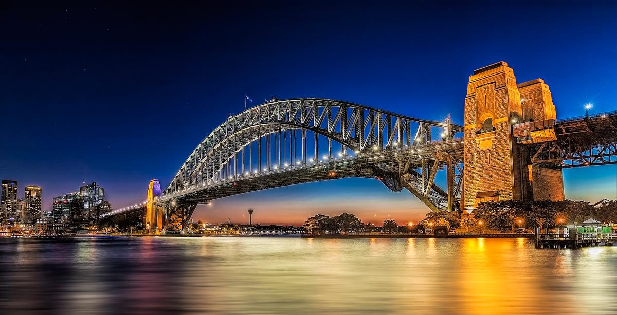 Sydney Harbour Bridge at Dusk by TarJakArt