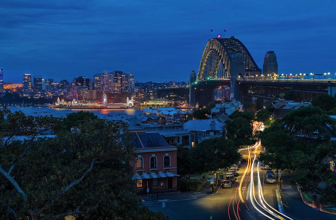 Sydney Blue Hour by TarJakArt