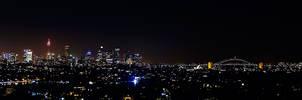 Sydney Night Panorama by TarJakArt