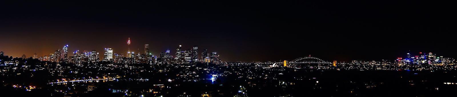 Sydney Night Panorama by TarJakArt