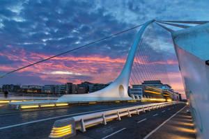 Samuel Beckett Bridge, Dublin by TarJakArt