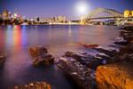 Moonrise over Sydney Harbour