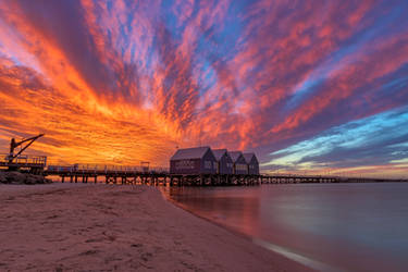 Busselton Jetty Sunset by TarJakArt