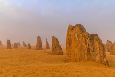 Misty Pinnacles Dawn by TarJakArt