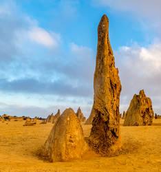 Pinnacles at Dawn by TarJakArt