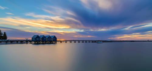 Busselton Jetty Sunset by TarJakArt