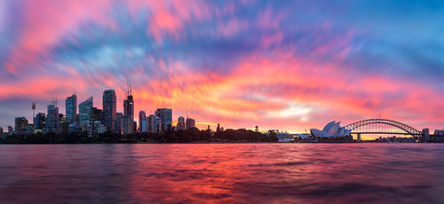 Sydney Sunset Panorama by TarJakArt