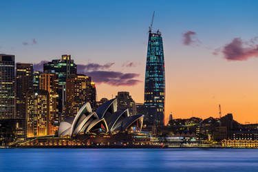 Sydney at sunset by TarJakArt