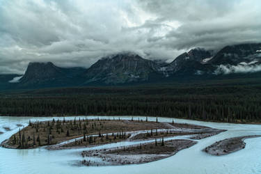 Gloomy day in  Canadian Rockies ii by vlad-m