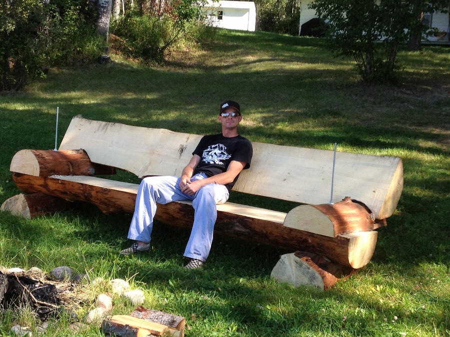 Log Benches How To Build Log Bench 2 By Jerm891 On Deviantart