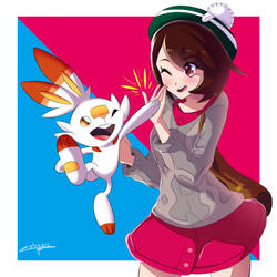 Gloria and Scorbunny Besto Friends