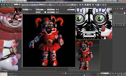 Circus Baby - Behind the Scenes by Polychromatism