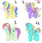 More pony adopts!!!  by myeyesha