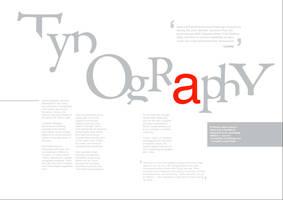 Typography magazine by Hursty-lad