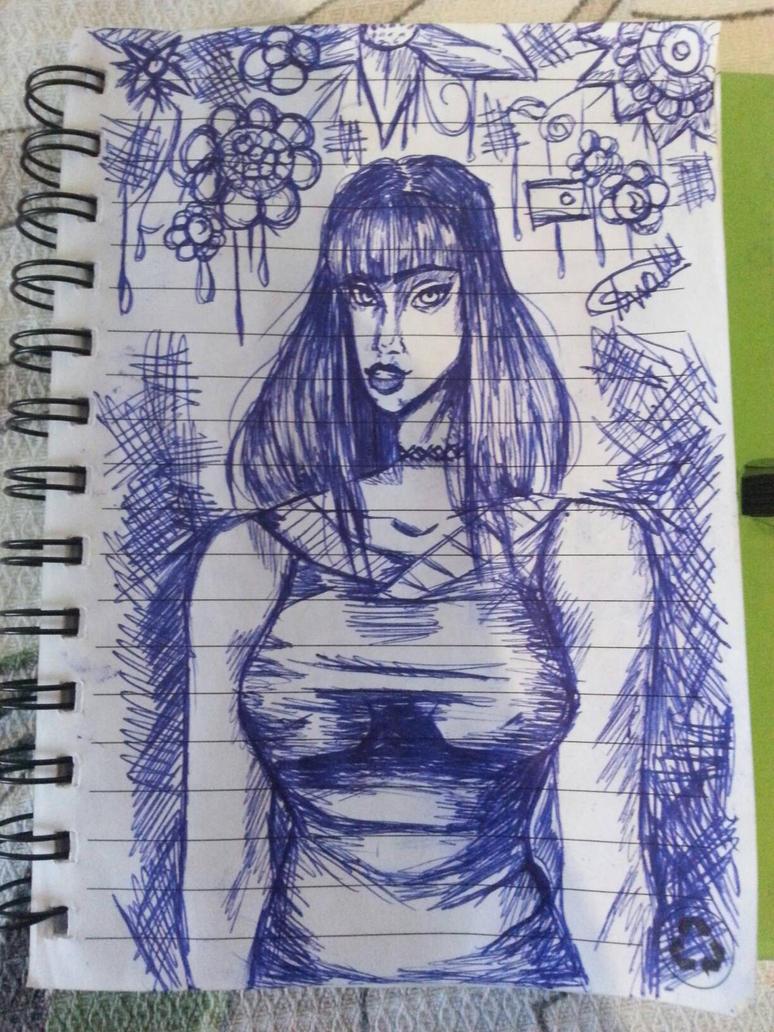 Random Ball point sketch #1 by missAnna56