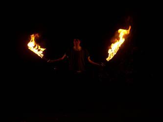 I like swords.... and fire.... by Chimeara-