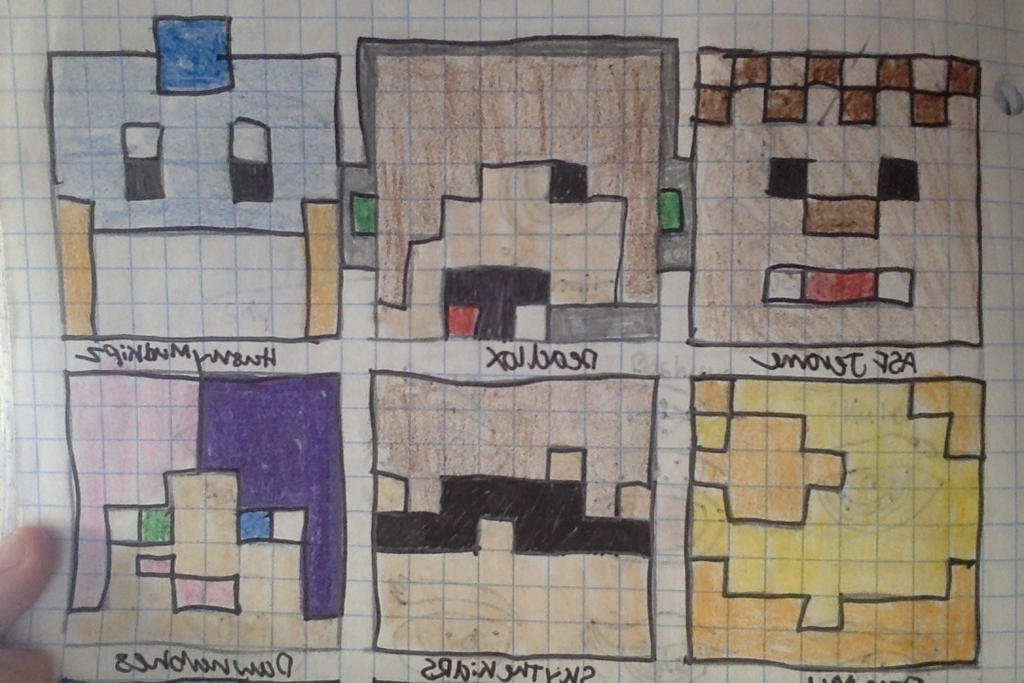 Minecraft Youtubers By Animelover On DeviantArt - Skins para minecraft youtubers