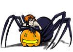 Daily art 104: Spider Pumpkin