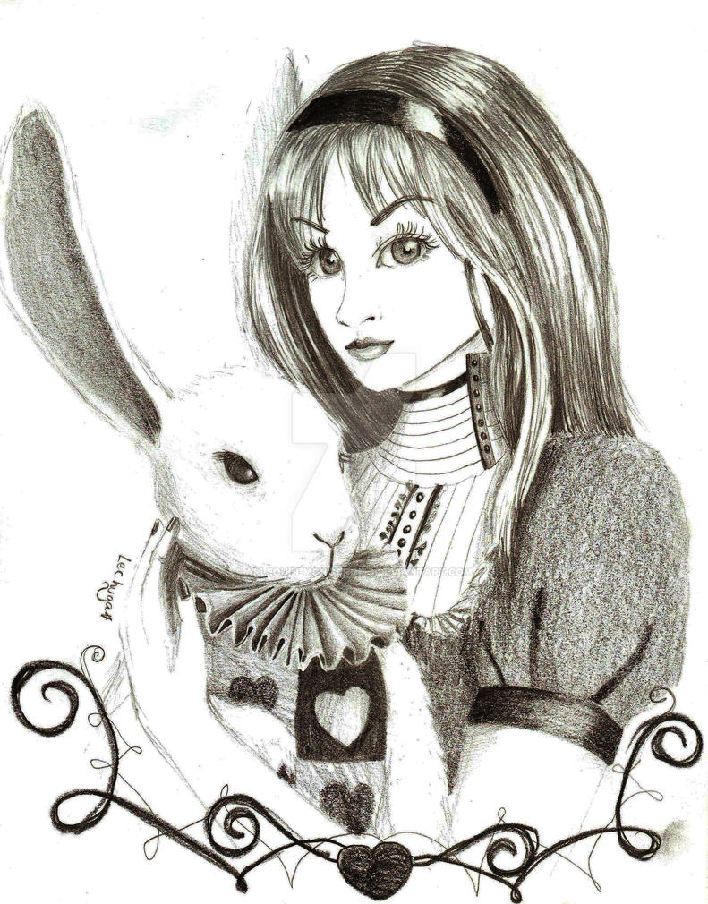Alice in the wonderland by arlequin-monocromo