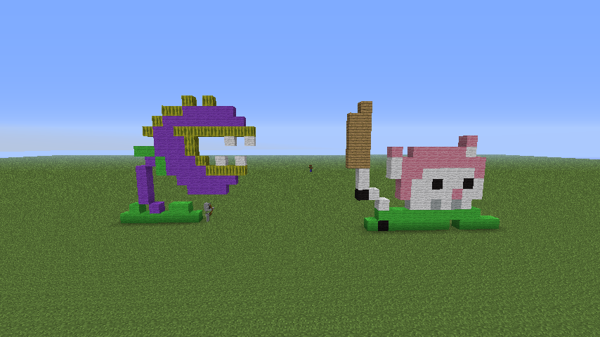 Chomper Cattail Minecraft Pixels By Daydallas On Deviantart