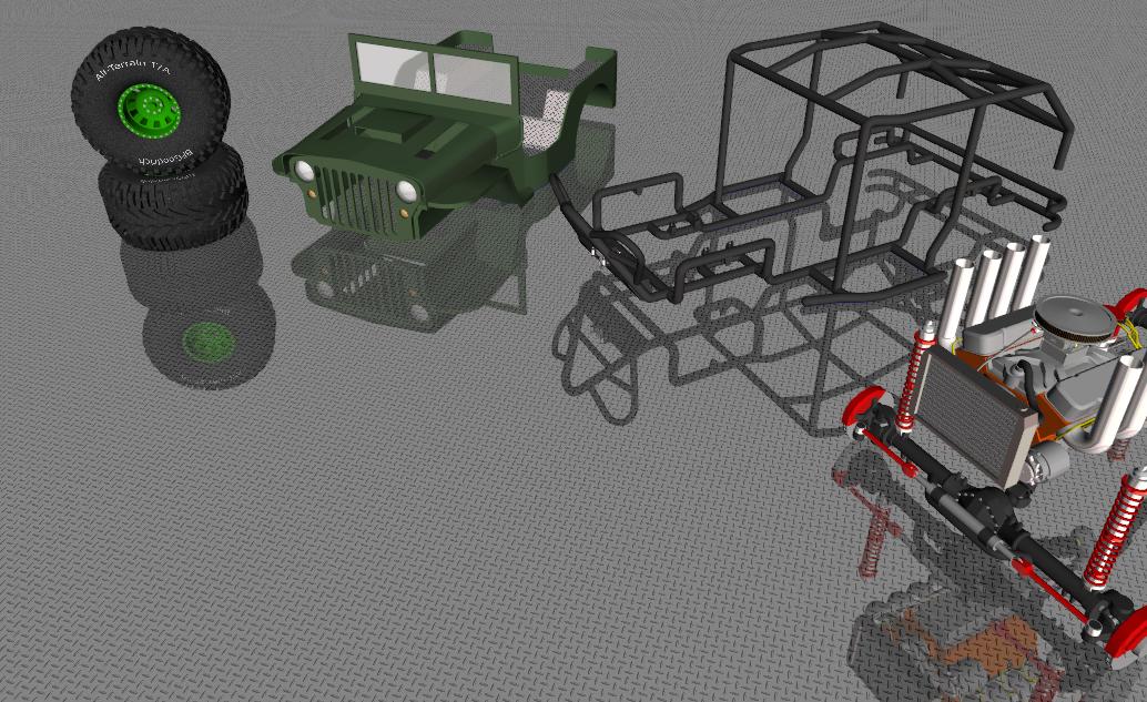Rock Crawler Art : Jeep willys rock crawler by anarchist kevin on deviantart